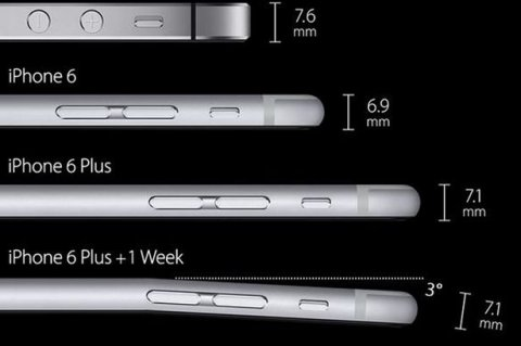 iphone 6 plus bend buigt