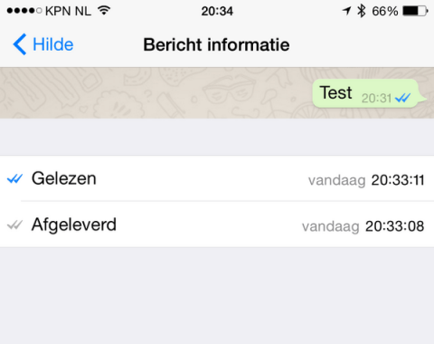 whatsapp 2 blauwe vinkjes bericht gelezen